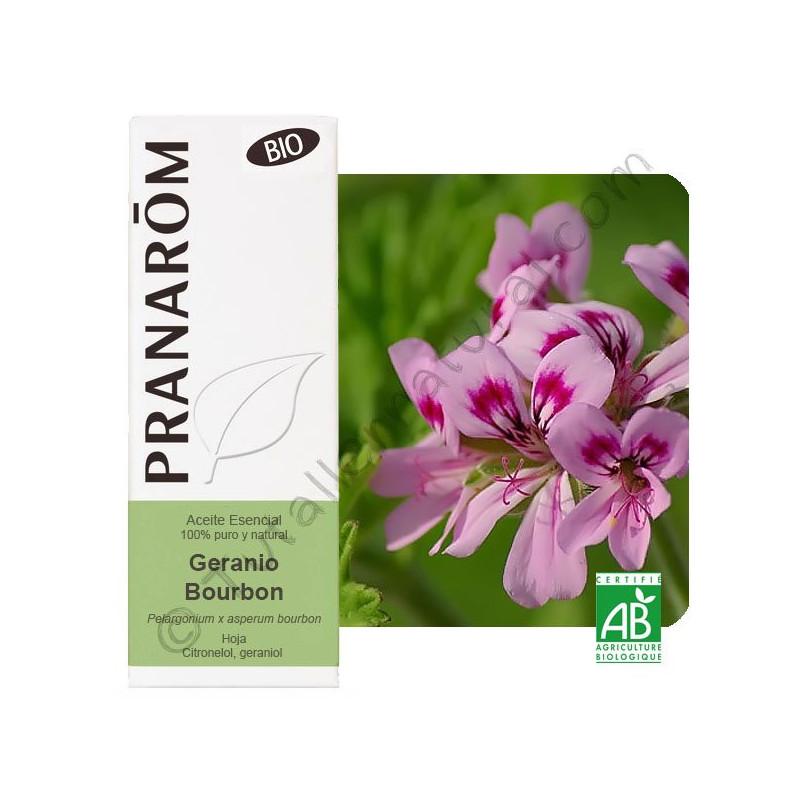 Aceite esencial de Geranio Bourbon BIO 10 ml.
