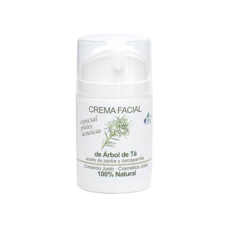 Crema facial antiacné con árbol del té BIO 50 ml.