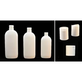 Envase de plástico oval blanco