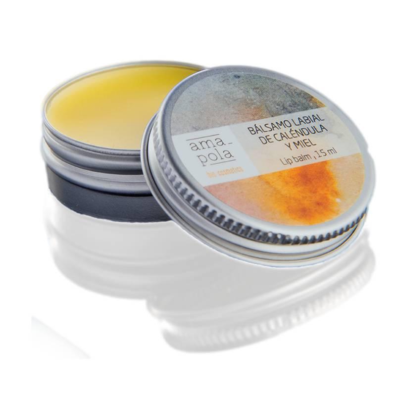 Bálsamo labial de caléndula y miel BIO 15 ml.