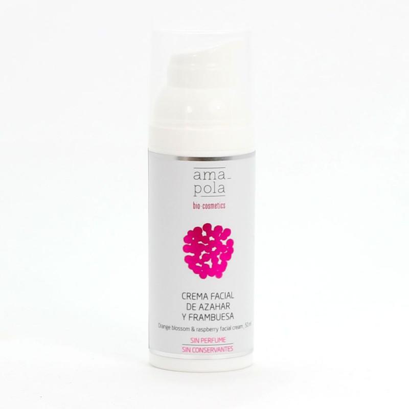 Crema facial de azahar y frambuesa BIO 50 ml. - Amapola Biocosmetics