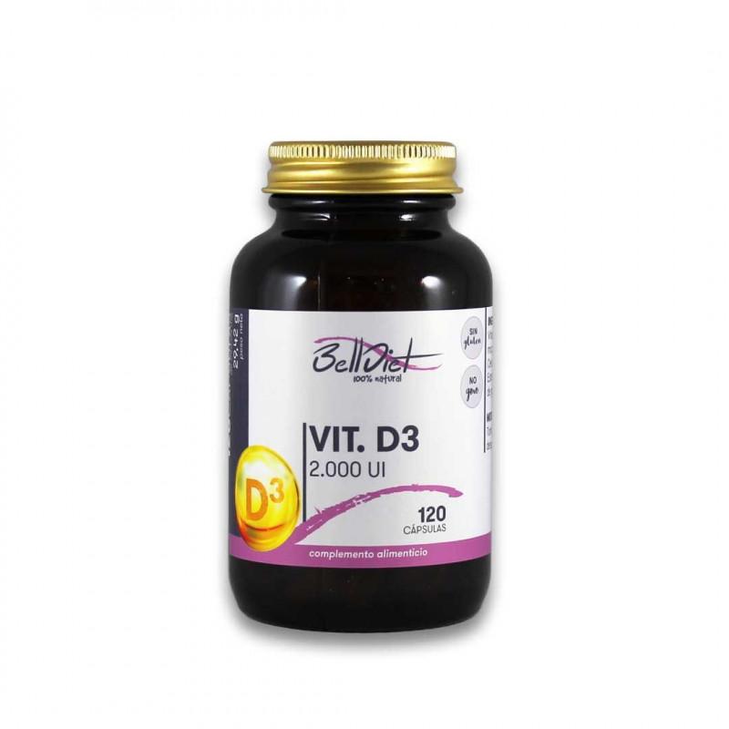 Vitamina D3 120 cápsulas vegetales