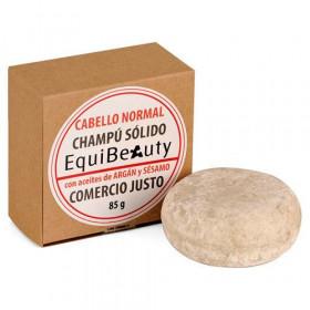 Champú sólido para cabello normal con aceites de argán y sésamo Bio de Comercio Justo