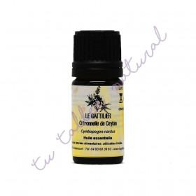Aceite esencial de citronela de Ceylán BIO 5 ml.