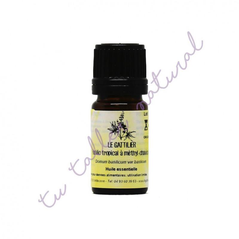 Aceite esencial de albahaca exótica BIO 5 ml. - Le Gattilier
