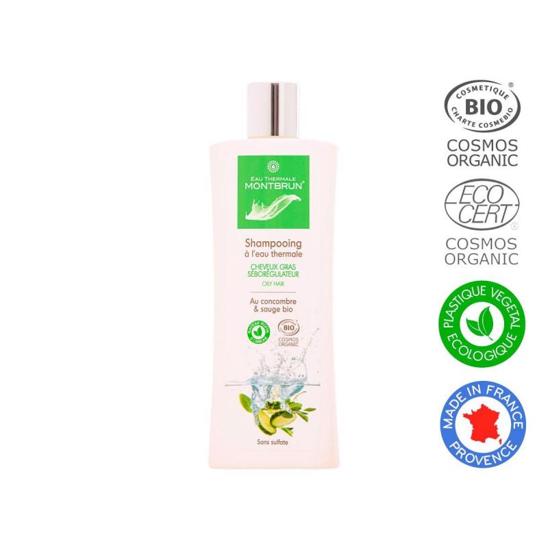 Champú con agua termal para cabello graso seborregulador Bio 250ml.