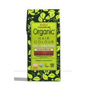 Tinte vegetal para cabello rubio caramelo BIO 100 gr.