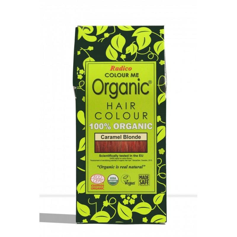 Tinte vegetal para cabello rubio caramlo BIO 100 gr.