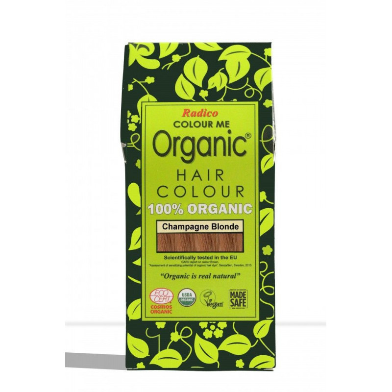 Tinte vegetal para cabello rubio champagne BIO 100 gr.